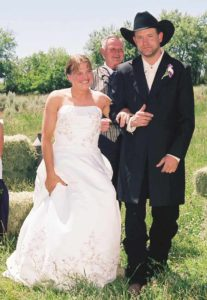 Randi and Jeramie after saying their vows on June 14, 2008.